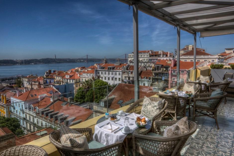 Terraza hotel barrio alto Lisboa