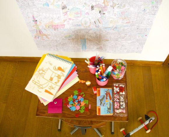 Mesa dibujar niños